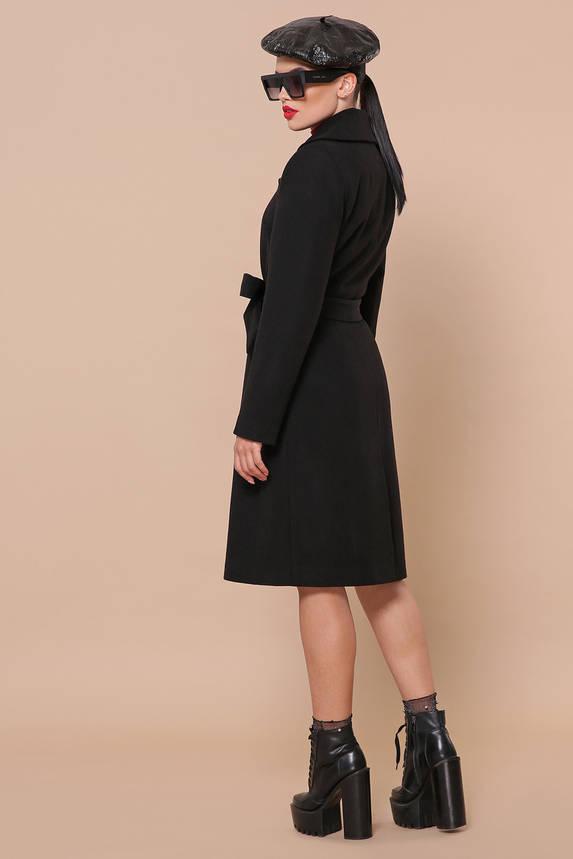 Черное кашемировое пальто демисезонное, фото 2