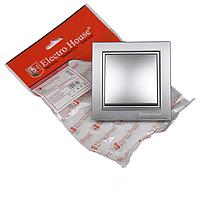 Выключатель серебро Enzo, ElectroHouse [EH-2181-ST]