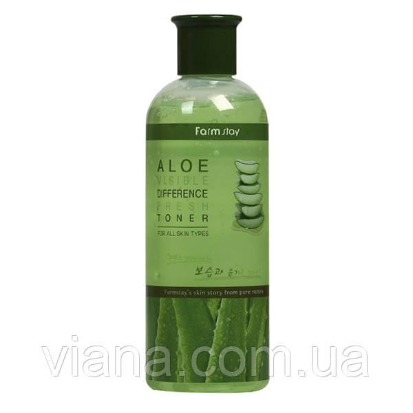 Увлажняющий тонер с экстрактом алоэ FarmStay Aloe Visible Difference toner 350 ml