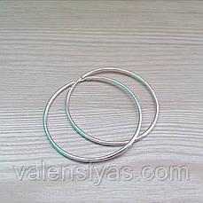 Серебряные серьги-кольца, фото 2