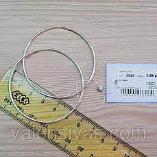 Серебряные серьги-кольца, фото 3