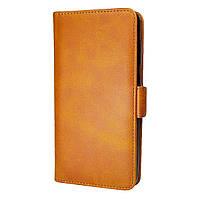 Чехол-книжка Leather Wallet для Samsung Galaxy A80 / Galaxy A90 Светло-коричневый