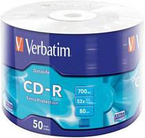 Компьютерный диск Verbatim CD-R 700Mb 52x Wrap 50 штук
