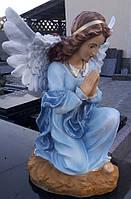 Ритуальные скульптуры из бетона. Статуя Ангела скорби №24 из полимера 55 см