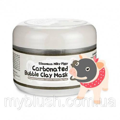Кислородная маска Elizavecca Carbonated Bubble Clay Mask с древесным углем 100 g