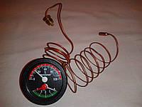 Термоманометр капиллярный PAKKENS Ø52мм / 0-4 бар / Tmax=120°С / длина капилляров L=1м       Турция