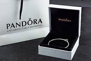 Серебряный браслет Pandora Пандора Оригинал с сертификатом серебро 925 проба классическая основа шарм