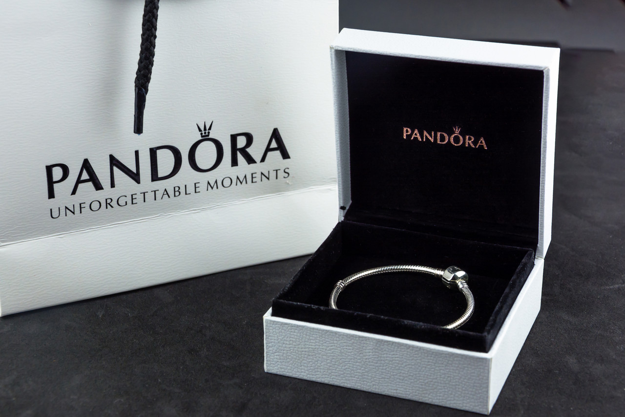 Серебряный браслет Pandora Пандора Оригинал с сертификатом серебро 925 проба классическая основа шарм, фото 1