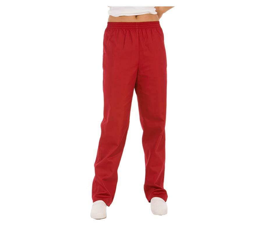 Штани медичні жіночі червоні на гумці без кишень Atteks - 03206
