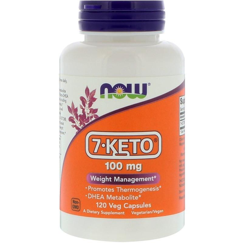"""7-КЕТО - ДГЭА, NOW Foods """"7-KETO"""" 100 мг, контроль веса (120 капсул)"""