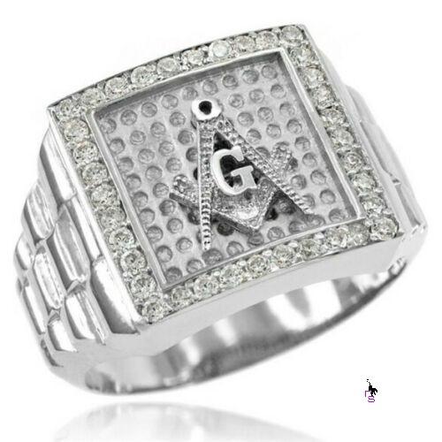 Роскошный мужской перстень с символикой массонов