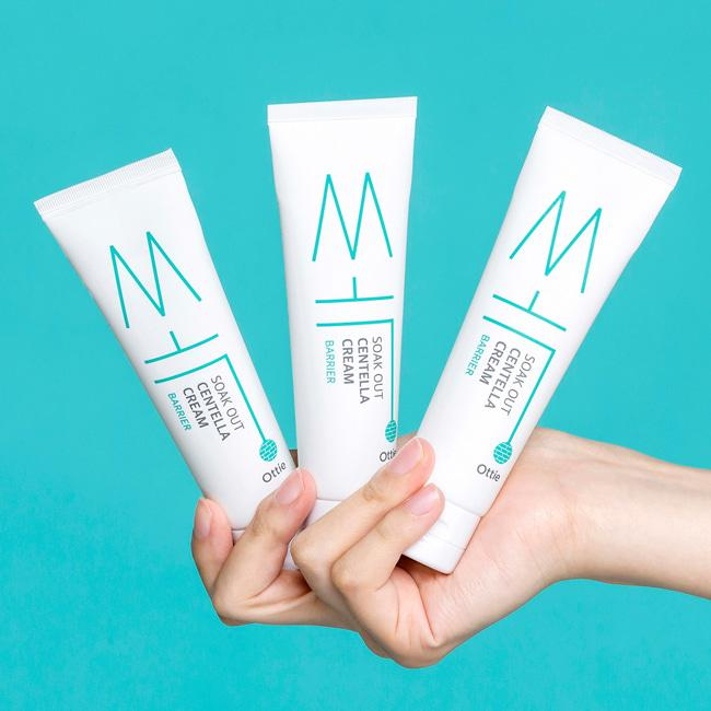 Крем для чувствительной кожи лица Ottie Soak Out Centella Cream Barrier 50 мл Корея