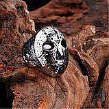 """Унікальний чоловічий перстень з маскою з """"П'ятниці 13"""" 16099, фото 2"""