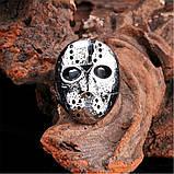 """Унікальний чоловічий перстень з маскою з """"П'ятниці 13"""" 16099, фото 3"""