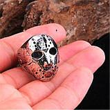 """Унікальний чоловічий перстень з маскою з """"П'ятниці 13"""" 16099, фото 5"""