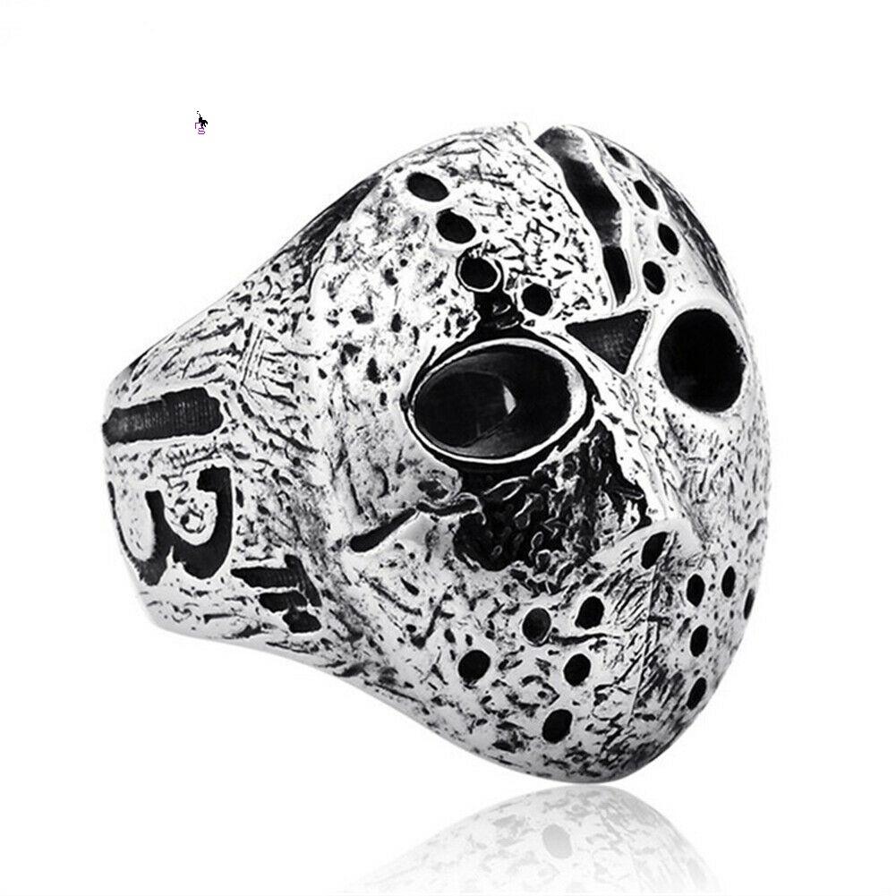 """Унікальний чоловічий перстень з маскою з """"П'ятниці 13"""" 16099"""
