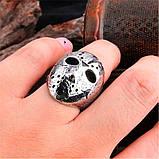 """Унікальний чоловічий перстень з маскою з """"П'ятниці 13"""" 16099, фото 4"""