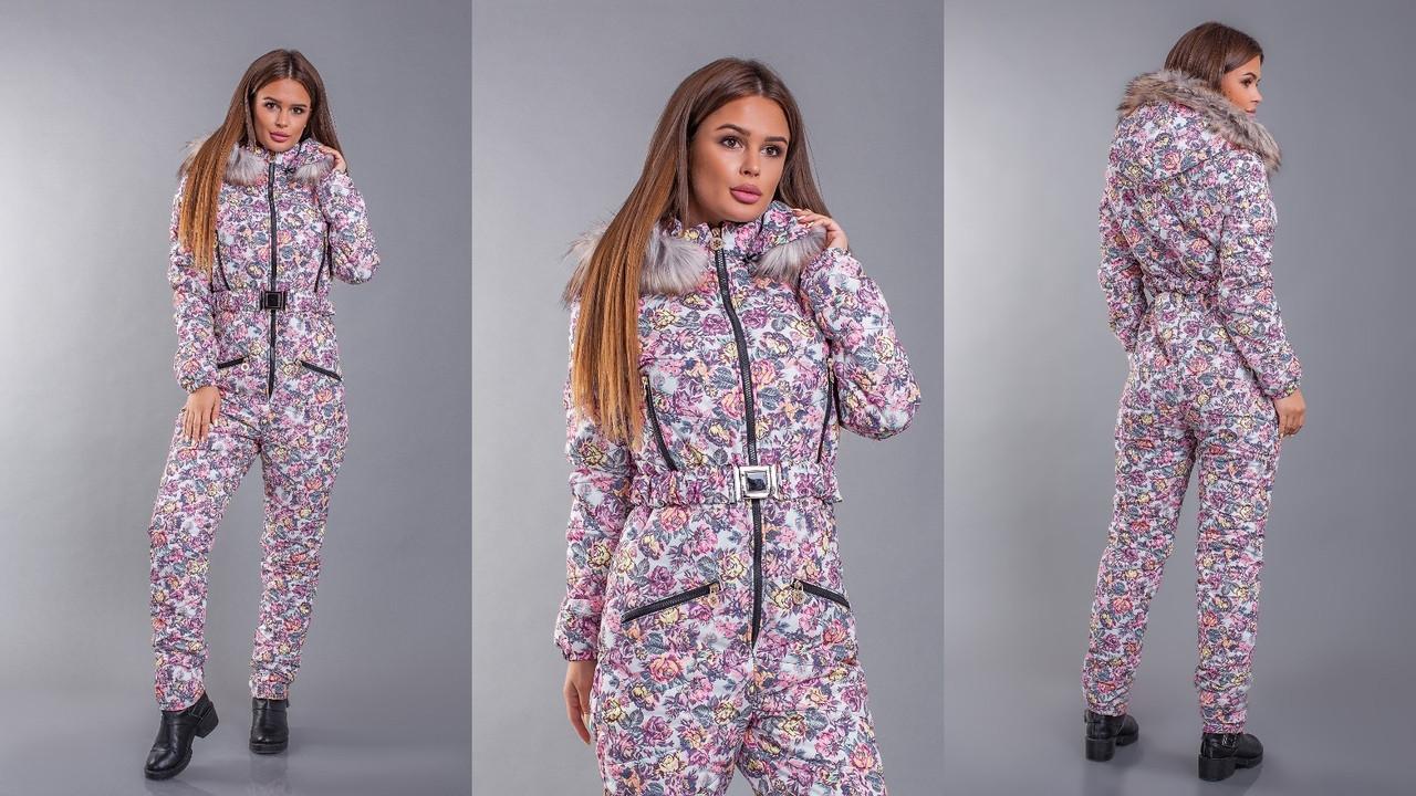 Зимний лыжный женский комбинезон опк2254