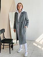 Женское шерстяное пальто на две пуговицы, фото 1
