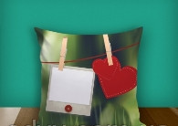 "Печать на подушке ""Love Message"""