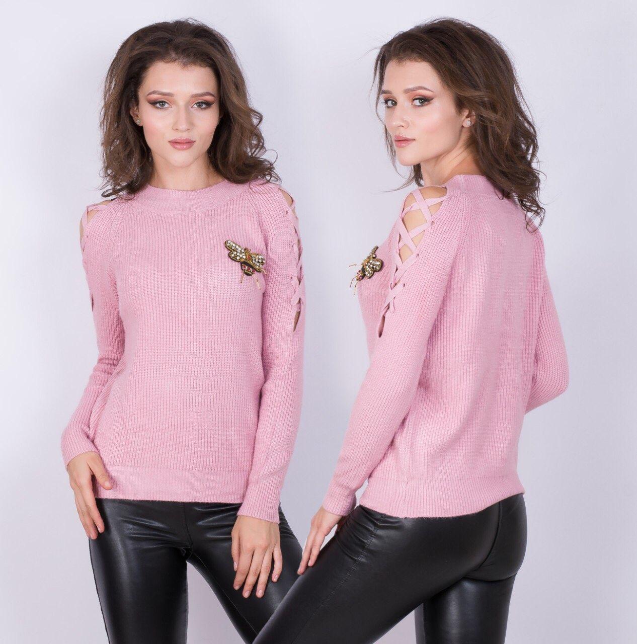 Женский свитер с пчелой 44-46 (в расцветках)