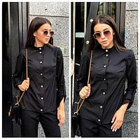 Рубашка женская с воротником стойка 31041, фото 1