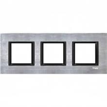 Рамка 3 пост. Unica Class серебристый алюминий MGU68.006.7A1