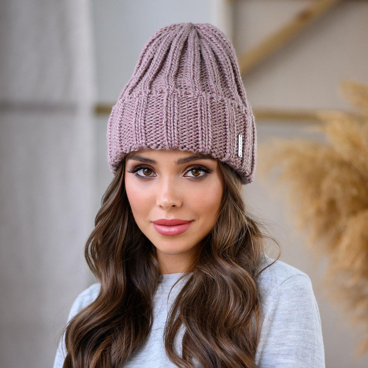 "Женская шапка LaVisio ""Серена"" 458-036 т.пудра"