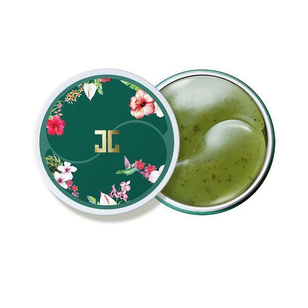 Jayjun Green Tea Eye Gel Patch Гидрогелевые патчи с лепестками зелёного чая