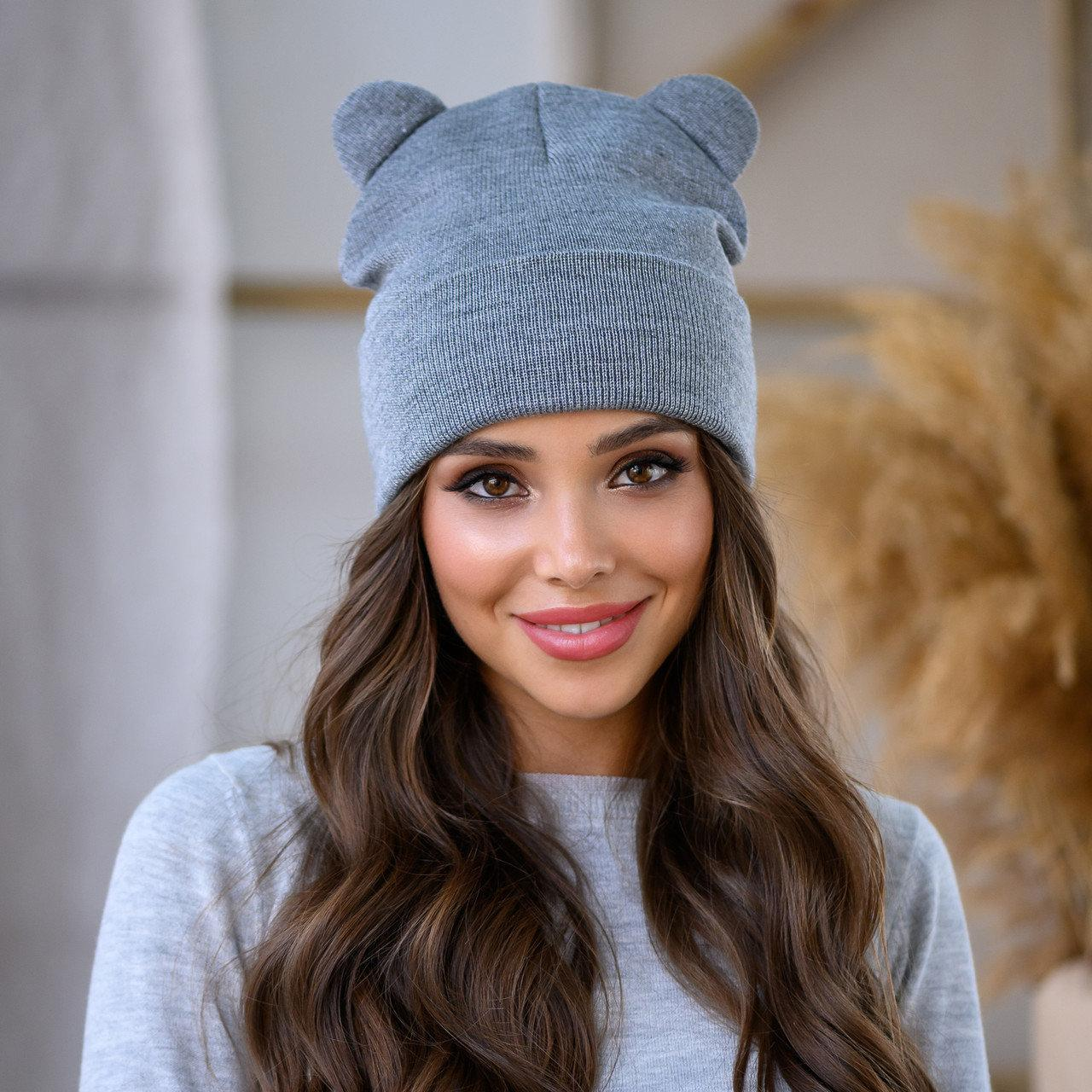 "Женская шапка LaVisio ""Катрина"" 654-017 серый"
