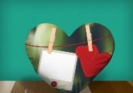 "Печать на подушке сердце ""Love Message"""