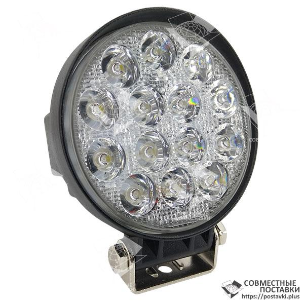 42W / 30 (14X3W / узкий луч, круглый корпус) 3000 LM LED фара рабочая круглая 42W, 14 ламп, 10-30V, 6000K