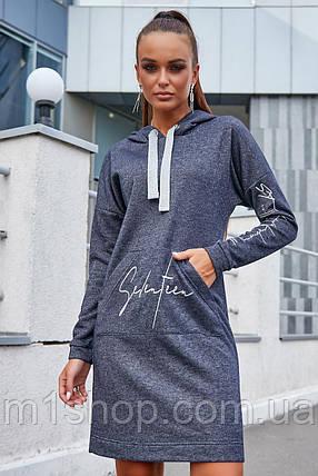 Женское платье спортивного стиля с капюшоном больших размеров (3652-3644-3645-3646-3650 svt), фото 2