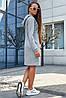 Женское платье спортивного стиля с капюшоном больших размеров (3652-3644-3645-3646-3650 svt), фото 4