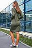 Женское платье спортивного стиля с капюшоном больших размеров (3652-3644-3645-3646-3650 svt), фото 6