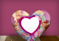 """Печать на подушке сердце """"Winx Cartoons"""""""