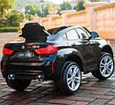 Детский электромобиль Джип JJ 2199 EBLR-2, BMW X6M, кожаное сиденье, колеса EVA, черный, фото 2