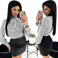 Жіноча блуза в смужку 4 кольори, фото 1