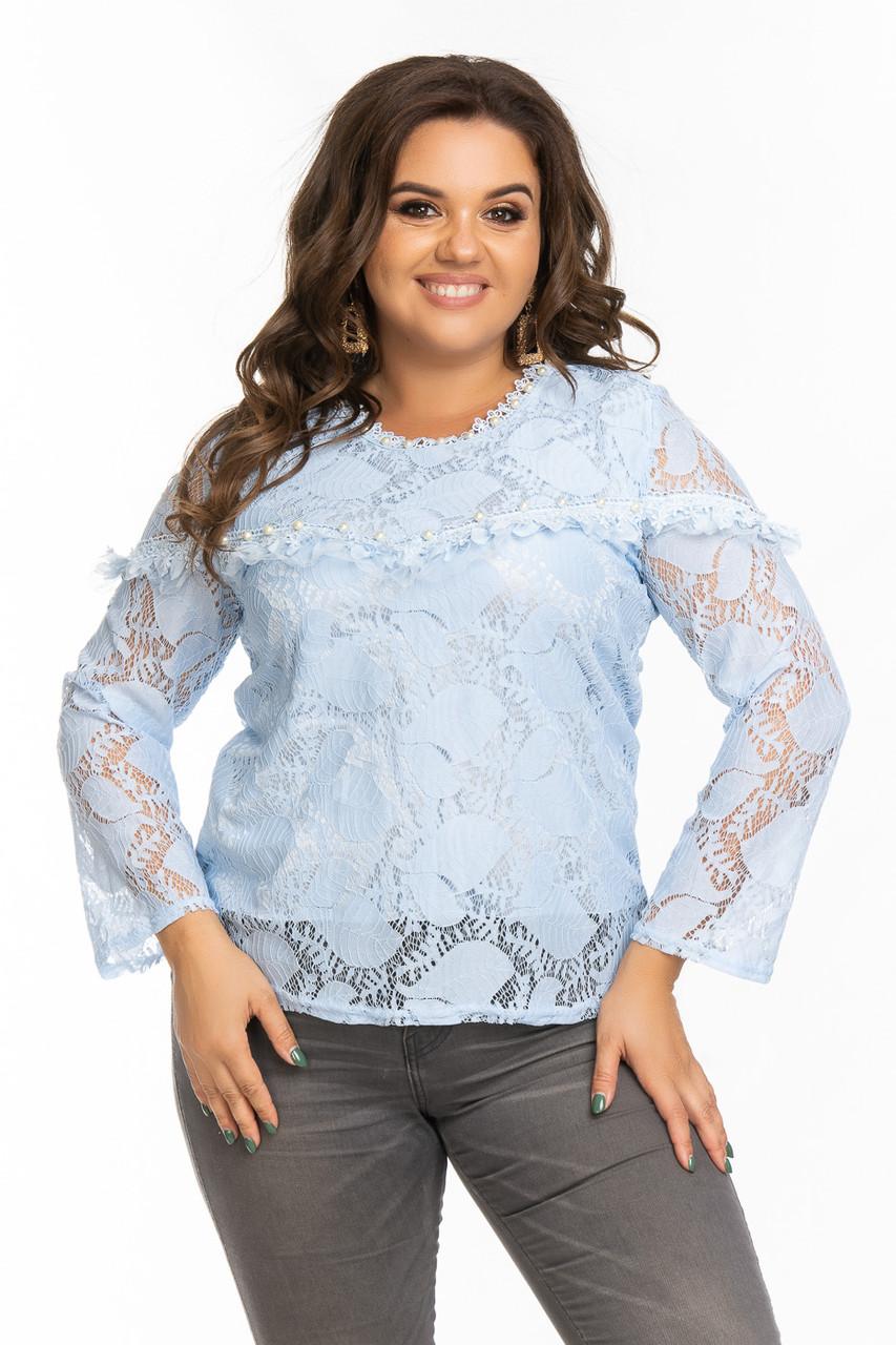 Нарядная гипюровая блуза 48-50 (в расцветках)