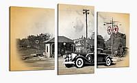 Модульная картина 70x110 см Ретро Автомобиль