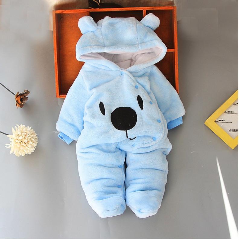 Комбинезон детский на мальчика весна-осень  голубой  3-12 мес.
