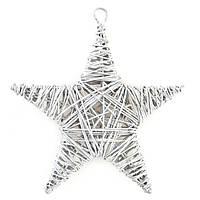Звезда Yes! Fun ротанг серебрянный 15 см