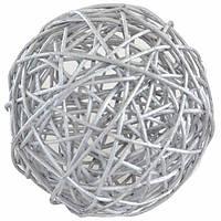 Шар Yes! Fun ротанг серебрянный 10 см
