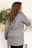 Модная женская туника,ткань ангора,размеры:50,52,54,56., фото 3