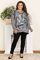 Женская модная туника,ткань ангора,размеры:50,52,54,56., фото 1