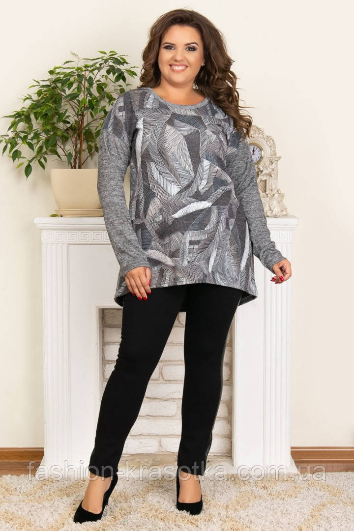 Женская модная туника,ткань ангора,размеры:50,52,54,56.