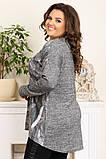 Женская модная туника,ткань ангора,размеры:50,52,54,56., фото 2