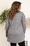 Женская модная туника,ткань ангора,размеры:50,52,54,56., фото 3