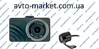 Видеорегистратор DVF-74 с двумя камерами