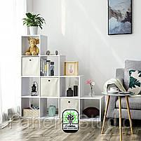 Стелаж-перегородка на 10 комірок, полка для книг, стелаж для іграшок ДСП, фото 2